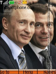 Скриншот темы Vladimir Putin i Dmitry Medvedev