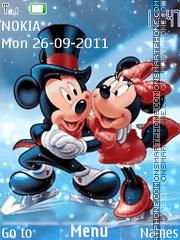 Скриншот темы Animated Mickey Love
