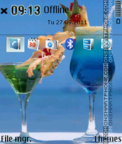 Summer Cocktail theme screenshot
