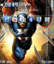 Скриншот темы Superhero Captain America 02