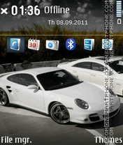 White Porsche theme screenshot