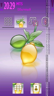 Crystal Lemon theme screenshot