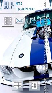 Скриншот темы White Mustang
