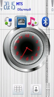 Analogue Grey Clock es el tema de pantalla