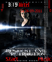 Resident Evil Retribution 2012 theme screenshot