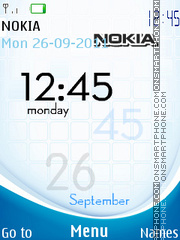 Nokia Clock 12 theme screenshot