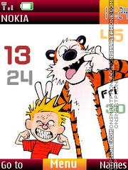 Скриншот темы Calvin And Hobbes