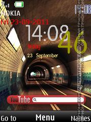 Tunnel Clock tema screenshot