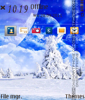 Snow Place theme screenshot