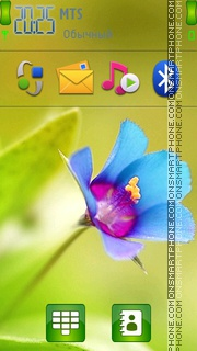 Cool Flower Abstract theme screenshot