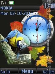 Parrot And Fall By ROMB39 es el tema de pantalla