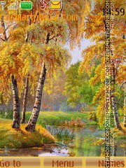 Golden autumn theme screenshot