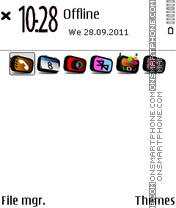 White Black 01 tema screenshot
