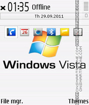 Windows vista white es el tema de pantalla