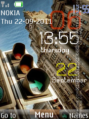 Traffic Light Clock theme screenshot
