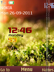 Nature Clock Theme theme screenshot