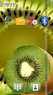 Kiwi Fruit theme screenshot