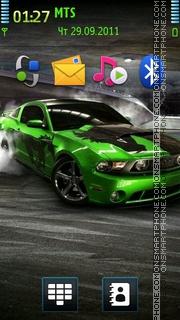 Green Ford Mustang theme screenshot