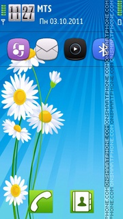 Daisy Flowers theme screenshot