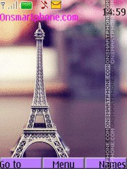 Purple paris tema screenshot