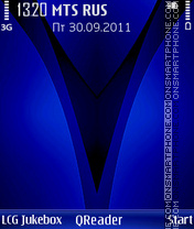 V-Blue theme screenshot