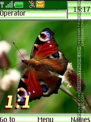 Butterflies12 name swf theme screenshot