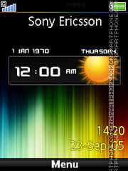 Rainbow Clock 01 es el tema de pantalla
