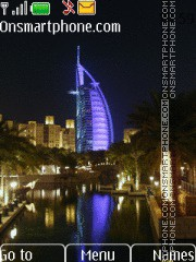 Dubai City Lights tema screenshot