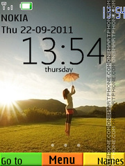 Happiness Swf theme screenshot