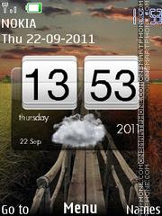 Capture d'écran Htc Widget Clock thème