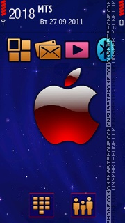Apple Acquaint theme screenshot