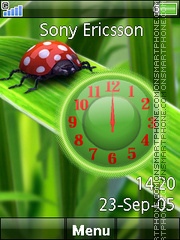 Ladybug Nature Clock theme screenshot