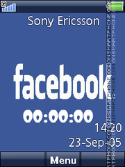 Facebook Clock theme screenshot