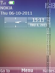 Nokia N8 Clock theme screenshot