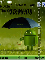 Android Rain Clock theme screenshot