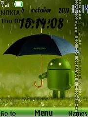 Capture d'écran Android Rain Clock thème