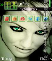 Скриншот темы Cameron Diaz 08