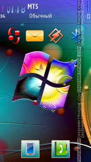 Windows Neon V3 tema screenshot
