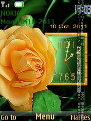 Yellow rose theme screenshot