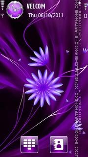 Flowers abstract theme screenshot