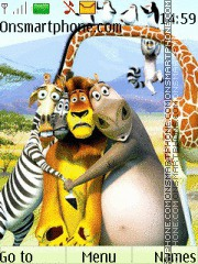 Madagascar theme screenshot