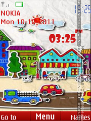Hd Paper Town theme screenshot