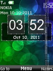 New Htc Radar Clock theme screenshot