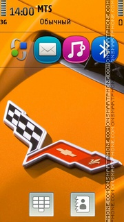 Orange Corvette Z06 Badge theme screenshot