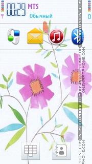 Paint Flowers theme screenshot