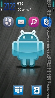 Blue Android Hd theme screenshot