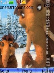 Скриншот темы Ice age-elly