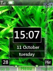Nature Htc Clock theme screenshot