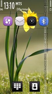 Yellow Flower Theme tema screenshot