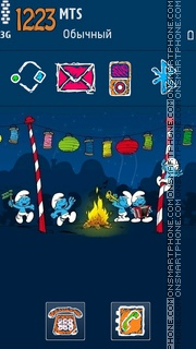 Smurfs Party Theme-Screenshot